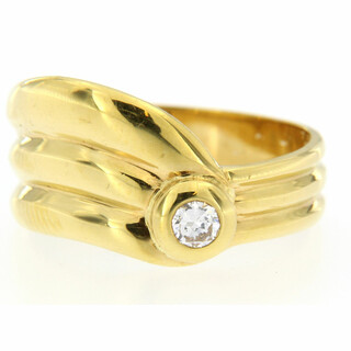 Ring 750/- Gelbgold 1 Brillant 0,17ct WSI