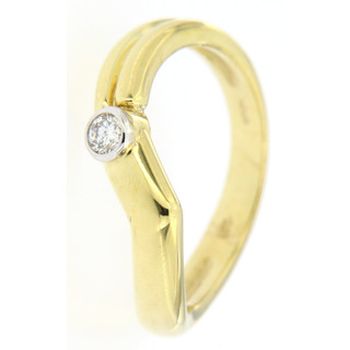 Ring 585/- Gelbgold 1 Brillant 0,10ct VSI