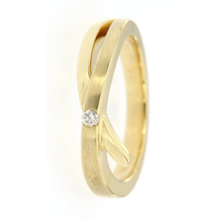 Ring 585/- Gelbgold 1 Brillant 0,05ct CP1
