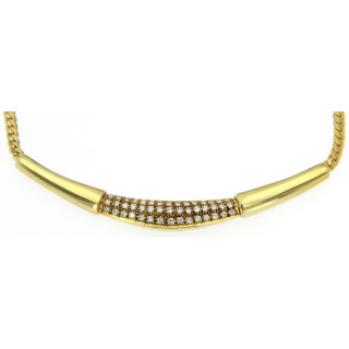 Collier 585/- Gelbgold 45 Brillanten zus. 0,45ct WSI