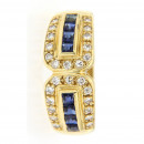Ring 585/- Gelbgold Brillant Safir