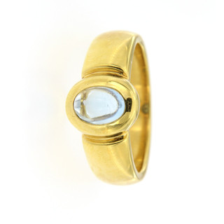 Ring 750/- Gelbgold 1 Aquamarin