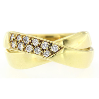 Ring 585/- Gelbgold 11 Brillanten zus. 0,26ct WSI