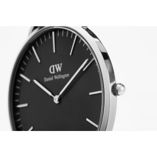 Classic Black Sheffield Silber 40 mm
