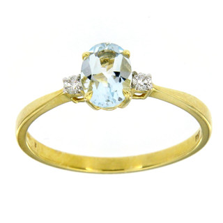 Ring 585/- Gelbgold Brillant Aquamarin