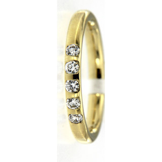 Memoirering 585/- Gold mit 5 Brillanten 0,25ct W/Si