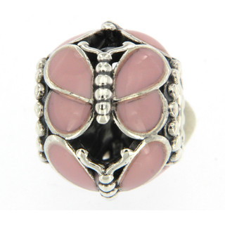 PANDORA - Pink Butterfly Charm